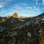 Aussicht etwas unterhalb des Gipfel des Hesten | Senja | Lofoten