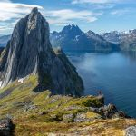Blick auf Segla vom Gipfel des Hesten | Fjordgård | Senja | Lofoten