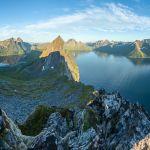 Blick vom Gipfel des Hesten | Fjordgård | Senja | Lofoten